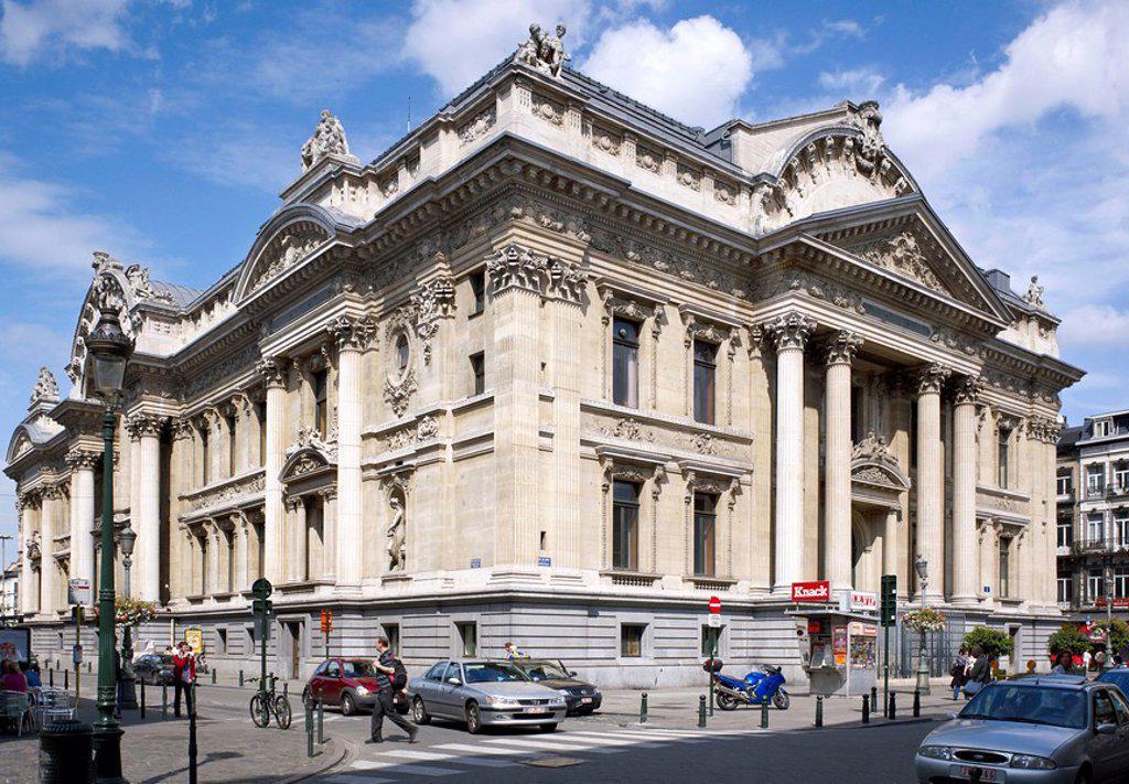 Stock Exchange, Brussels, Belgium, Europe : Stock Photo