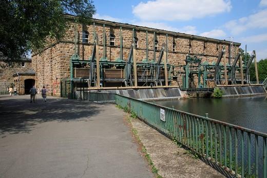 Water power Station Kahlenberg, Muelheim an der Ruhr, North Rhine_Westphalia, Germany : Stock Photo