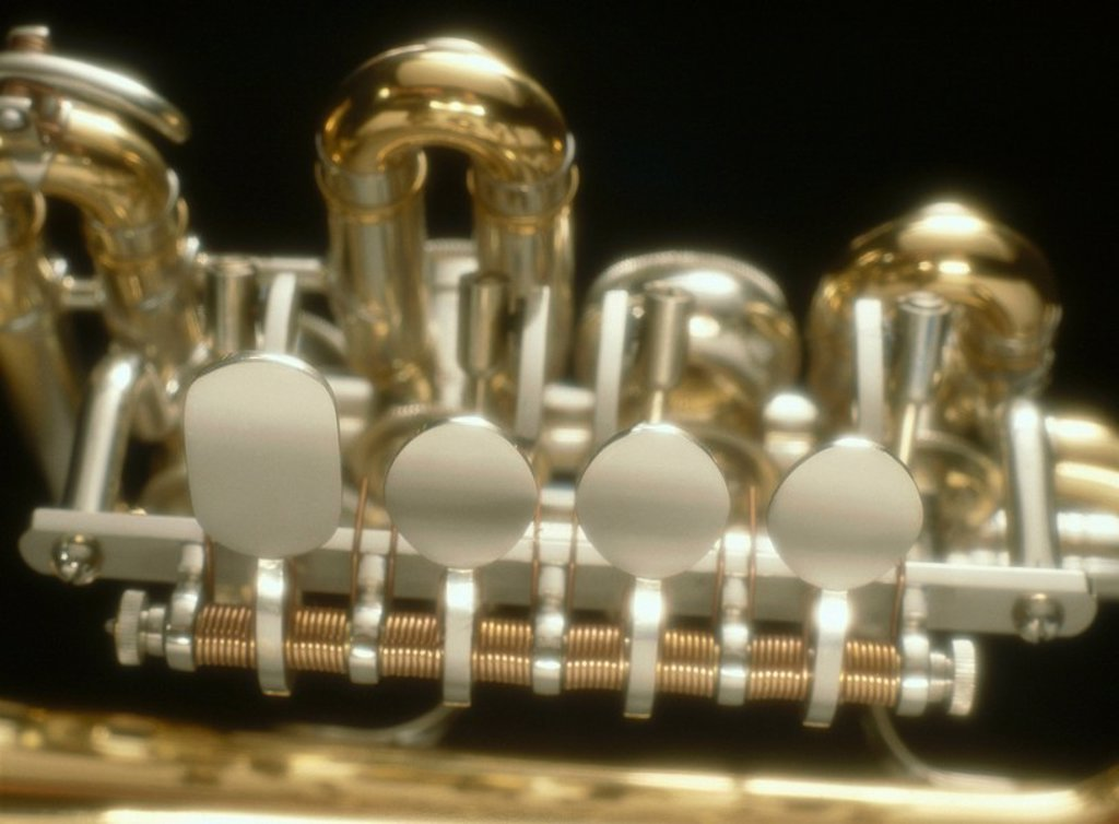 Stock Photo: 1841-38310 Close_up of trumpet