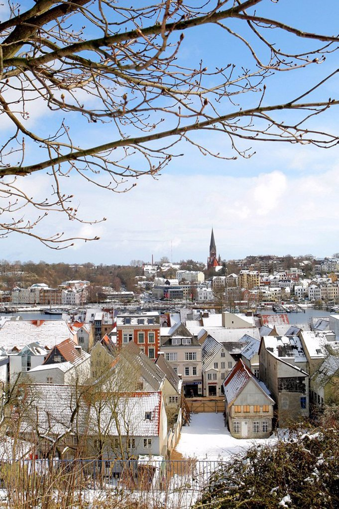 Flensburg in winter, Schleswig_Holstein, Germany : Stock Photo