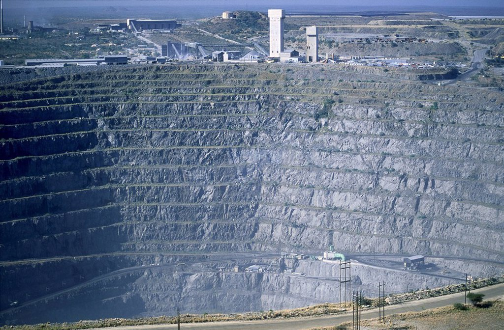 High angle view of a quarry : Stock Photo
