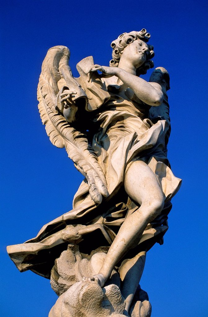 Stock Photo: 1841-42277 Low angle view of sculpture against blue sky, Rome, Italy