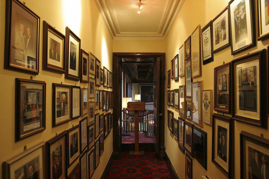 Interiors of corridor, Ashford Castle, Ireland : Stock Photo