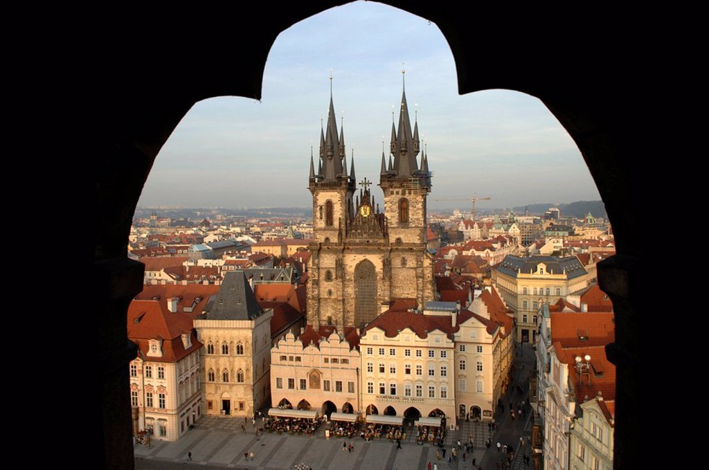 View of the Teyn church, Prague, Czech Republic : Stock Photo