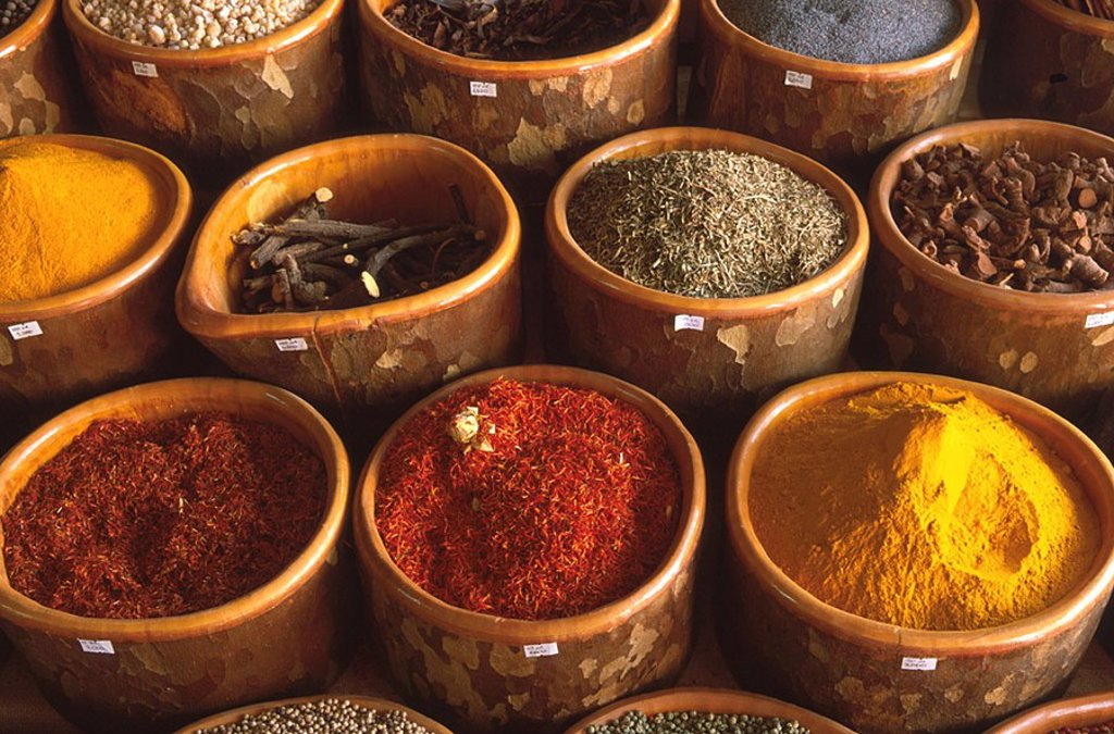 Stock Photo: 1841-43783 Spice on sale in market