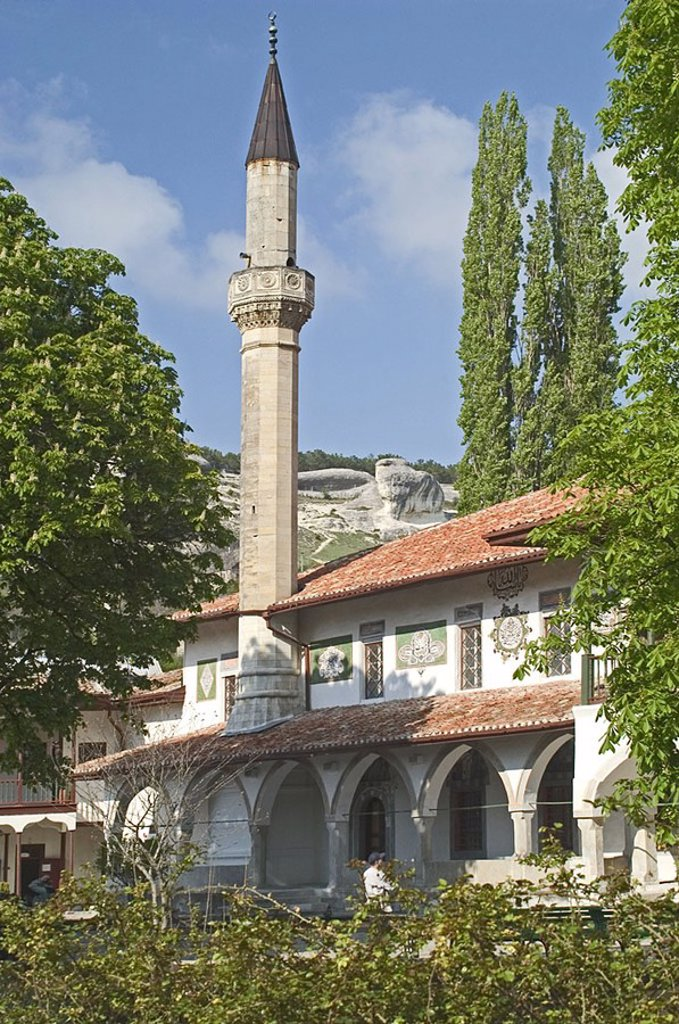 Stock Photo: 1841-44874 Minaret of mosque, Bachtschisaraj, Crimea, Ukraine