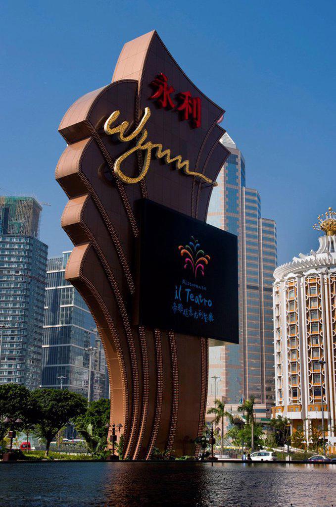 Stock Photo: 1841-47743 Wynn Casino, Macao, China