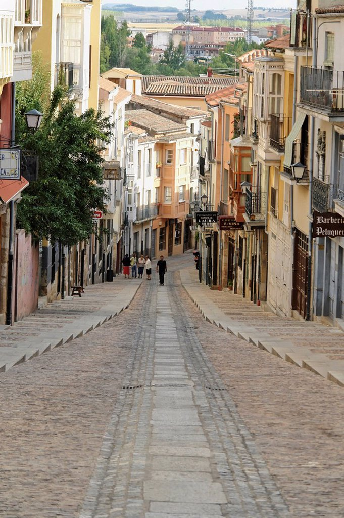 Stock Photo: 1841-47818 Alley in Zamora, Spain, elevated view