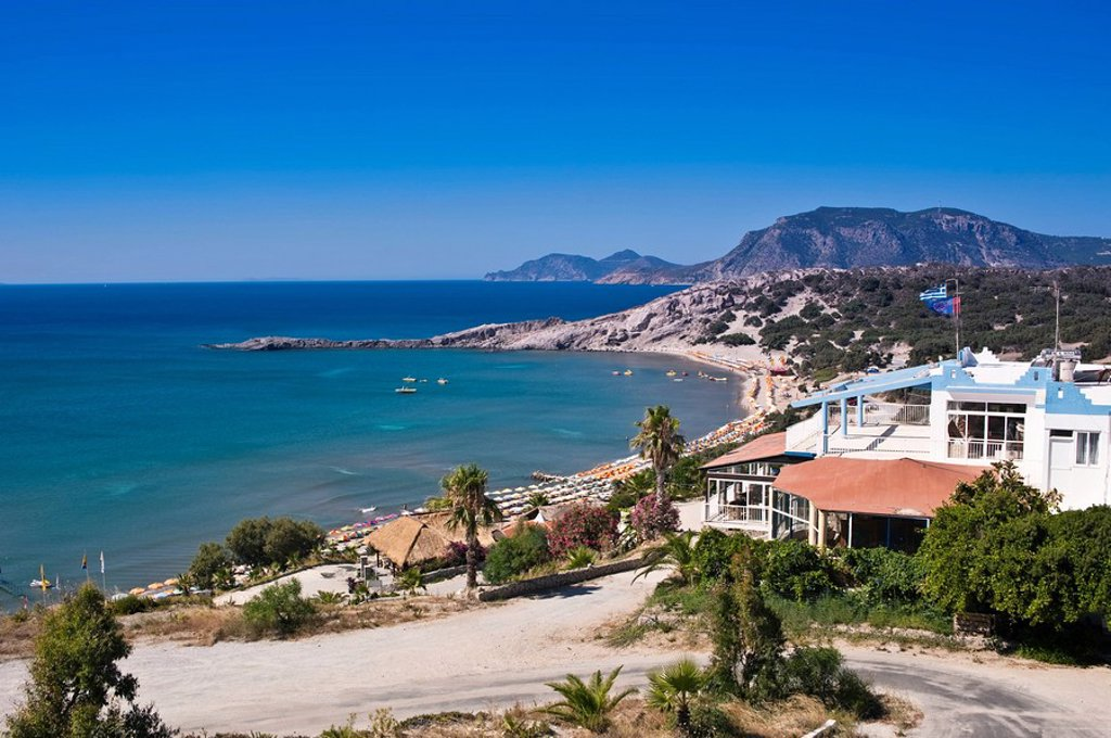 Stock Photo: 1841-48367 View to the Paradise Beach, Cos, Greece
