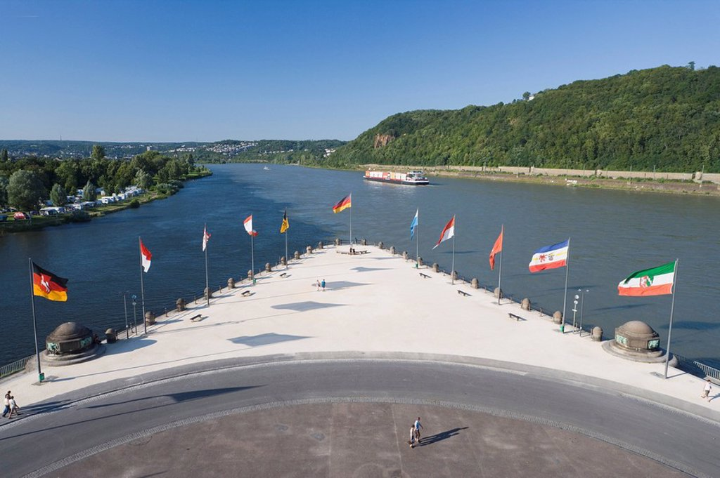 Deutsches Eck, Germany : Stock Photo
