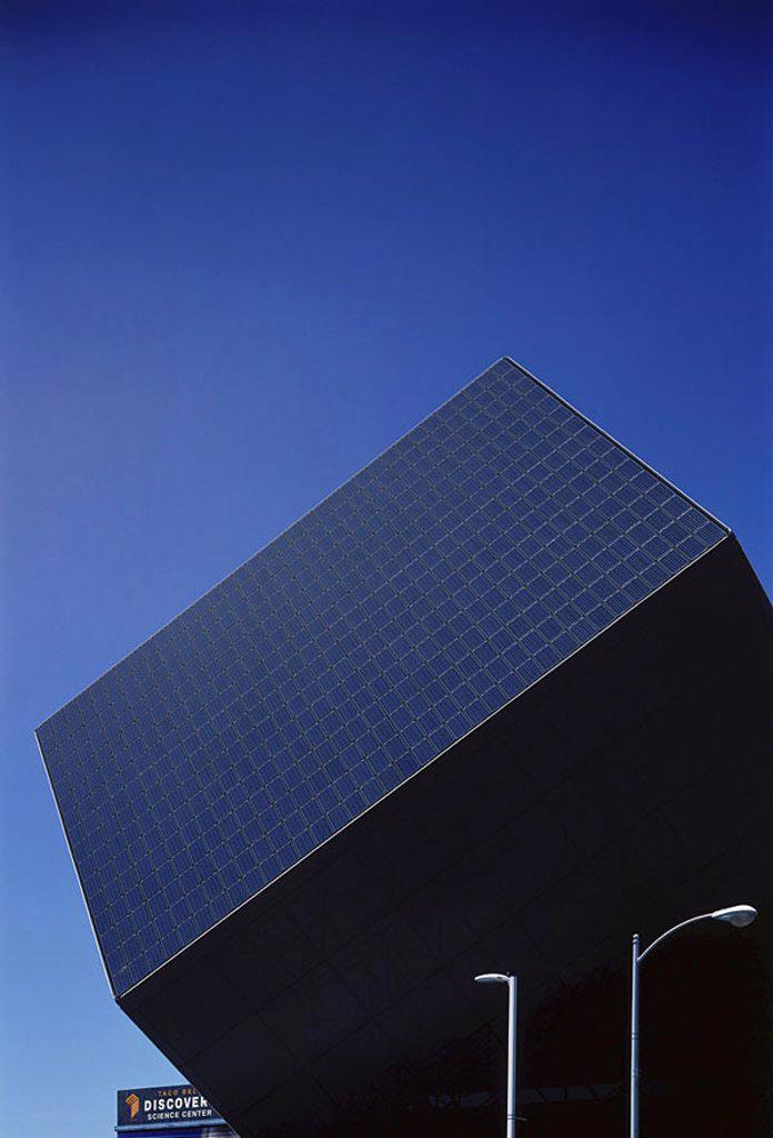 Low angle view of solar panel, Santa Ana, California, USA : Stock Photo