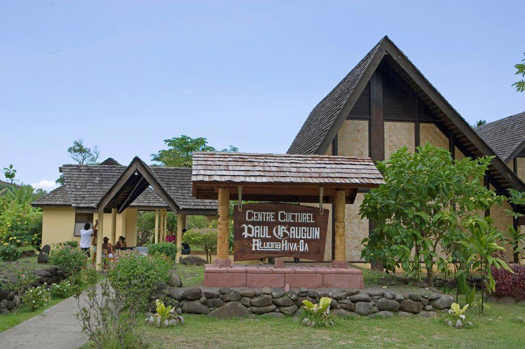 Atuona, Hiva Oa, French Polynesia : Stock Photo