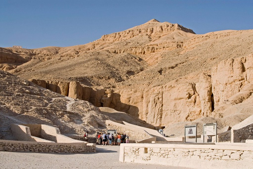 Stock Photo: 1841-53134 Accesses to the tombs in the Valley of the Kings, Luxor, Egypt