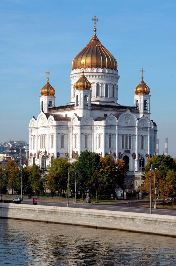 Stock Photo: 1841-53580 Church at waterfront, Moscow, Russia