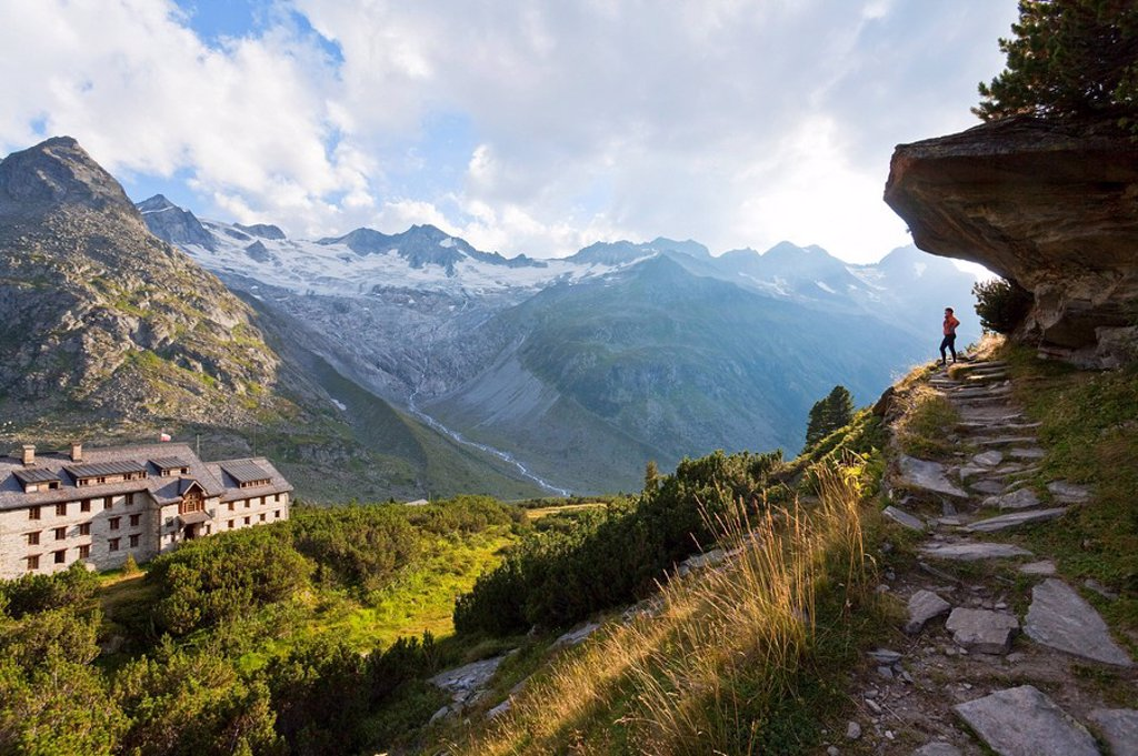 Stock Photo: 1841-55722 Berliner Hut, Zillertaler Alps, Tyrol, Austria