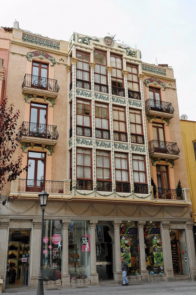 House front in the city of Zamora, Spain : Stock Photo