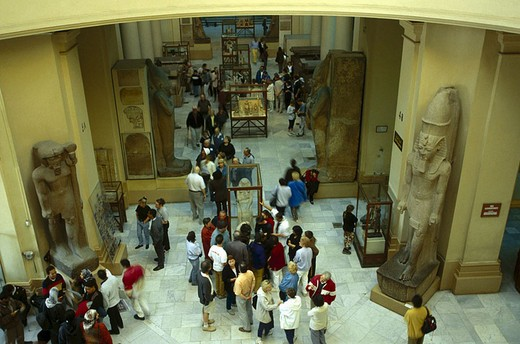 Interiors of museum, Cairo, Egypt : Stock Photo