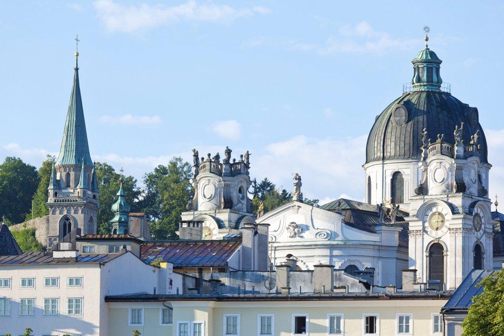 Stock Photo: 1841-78356 Kollegienkirche und Franziskanerkirche, Salzburg, Austria, Europe