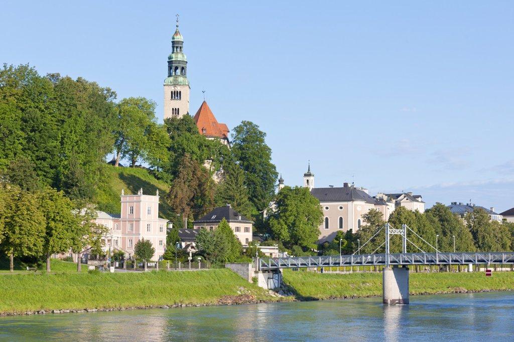 Muellnerbr¸cke und Muellnersteg, Salzburg, Austria, Europe : Stock Photo