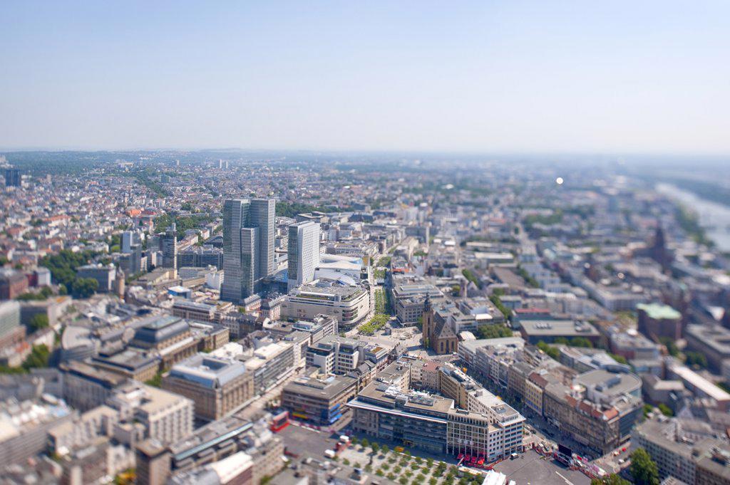 Cityscape of Frankfurt am Main, Germany : Stock Photo