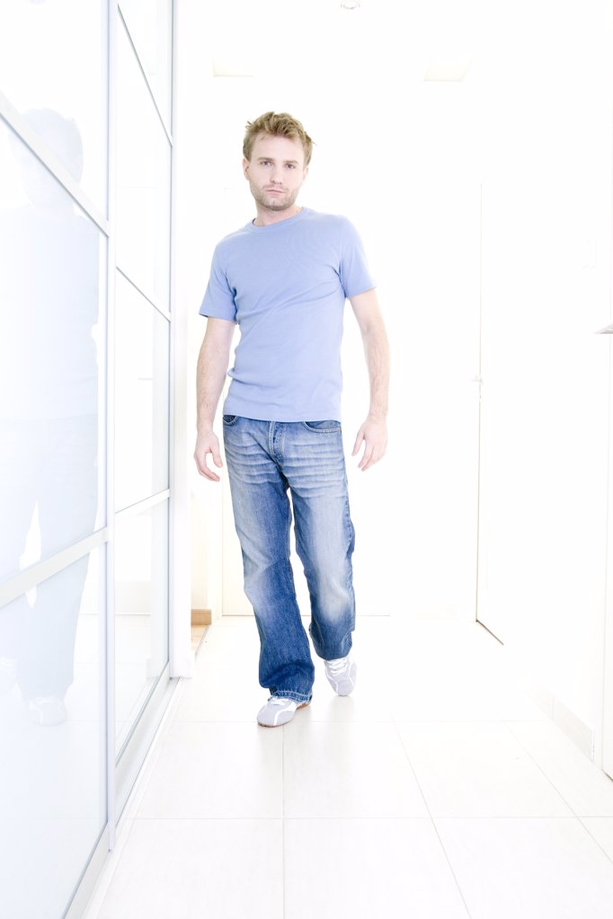 Stock Photo: 1841R-107777 man standing in hall