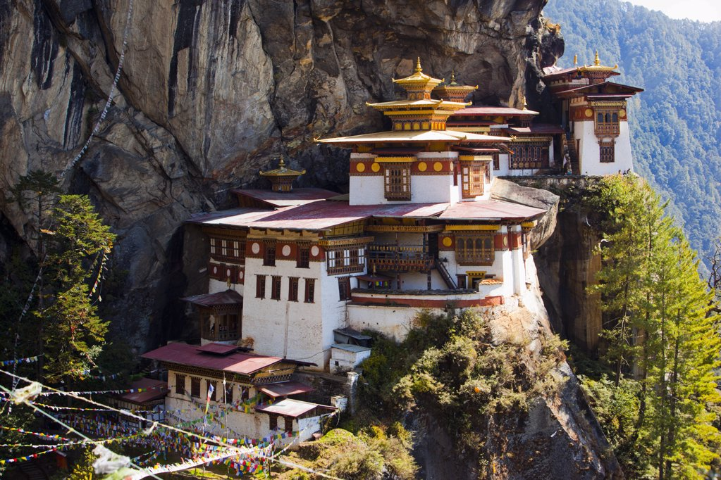 Stock Photo: 1841R-113838 Taktsang Monastery, Bhutan