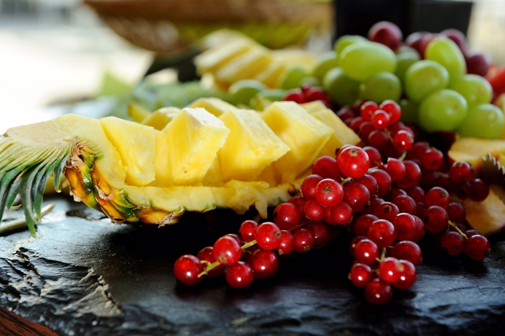 Stock Photo: 1841R-124877 Fruits for a buffet, Bistro Lagunenblick, Nuremberg, Franconia, Bavaria, Germany, Europe