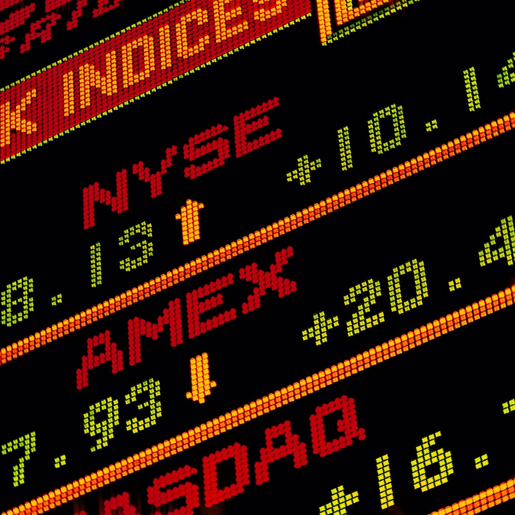 Stock Photo: 1841R-125173 stock indices NYSE, AMEX and NASDAQ