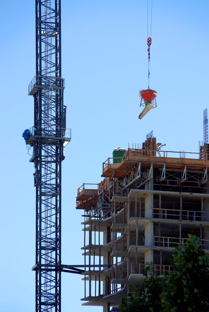 Stock Photo: 1841R-125188 Construction site in Downtown Vancouver, British Columbia, Canada