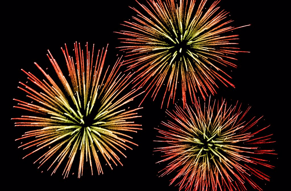 Stock Photo: 1841R-125194 Fireworks