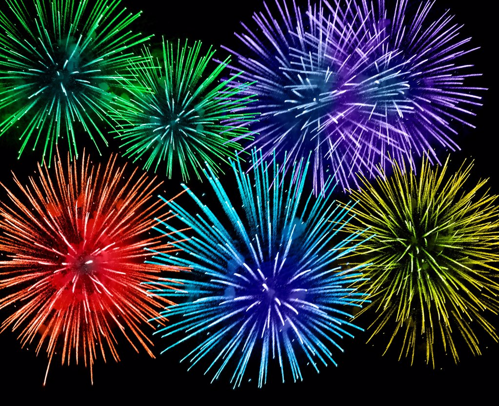 Stock Photo: 1841R-125200 Fireworks