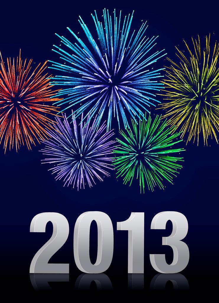 Stock Photo: 1841R-125203 Fireworks