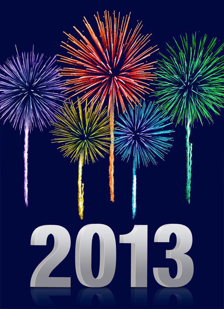 Stock Photo: 1841R-125206 Fireworks
