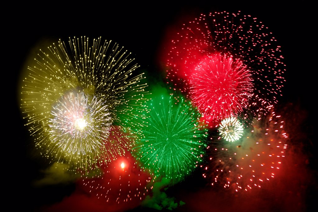 Stock Photo: 1841R-125221 Fireworks