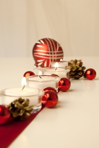 Stock Photo: 1841R-83049 Christmas decoration, close-up