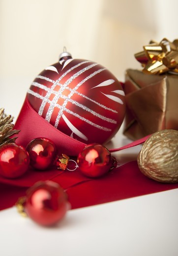 Christmas decoration, close-up : Stock Photo