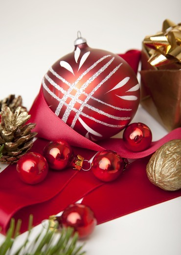 Stock Photo: 1841R-83054 Christmas decoration, close-up