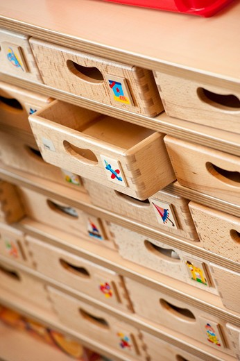Stock Photo: 1841R-83954 Wooden drawers