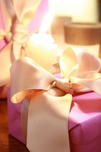 Stock Photo: 1841R-88651 Close-up of gift box