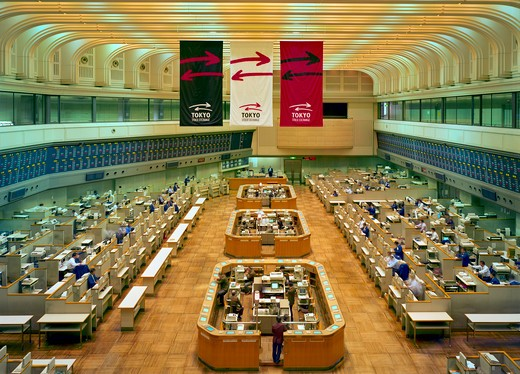 Stock Photo: 1841R-92090 Interiors of trading floor