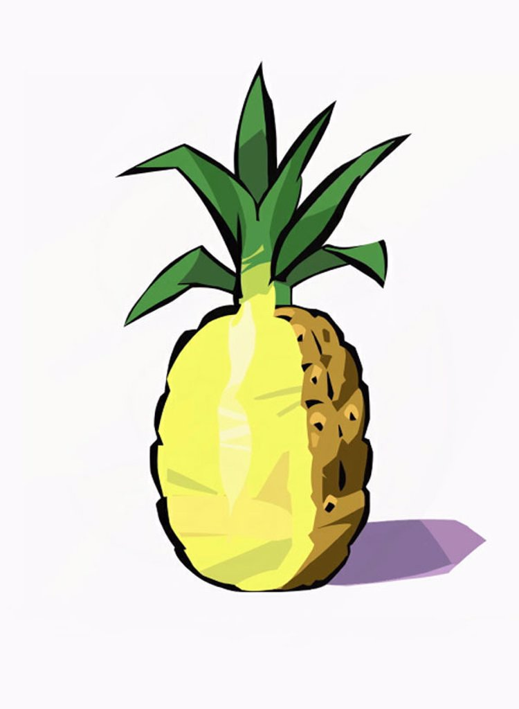 A whole pineapple : Stock Photo