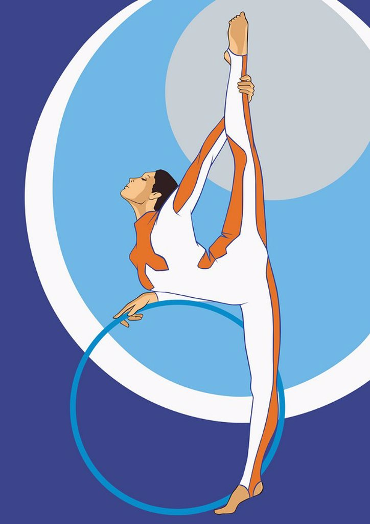 Gymnast with hoop : Stock Photo