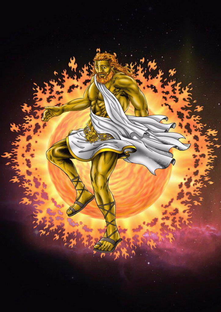 The god Hephaistos : Stock Photo
