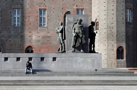 Piazza Castello, Turin, Italy, Europe : Stock Photo