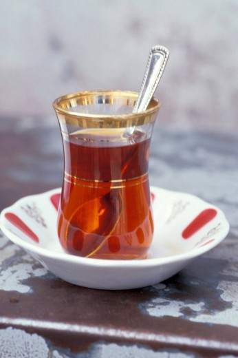 Turkish tea , Istanbul, Turkey, Middle East , : Stock Photo