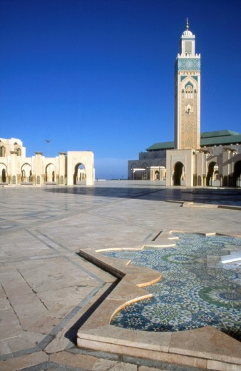 Stock Photo: 1844-1724 Hassan II mosque , Casablanca, Morocco, Africa