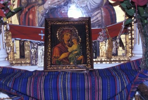 Stock Photo: 1844-194 Eptanese, Kefallonia Agios Gerasimos Procession,Omalos Valley