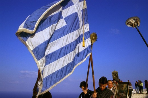 Stock Photo: 1844-2192 Eptanese, Zakynthos Easter Monday Procession