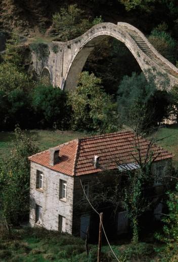 Epiros: Mosques, Treks, and Kayaks Plaka Bridge : Stock Photo
