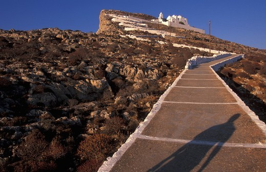 Stock Photo: 1844-2830 On the way to the Church of the Panagia Folegandros, Cyclades, Greece